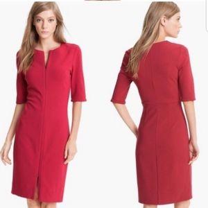Diane Von Furstenberg Saturn Zipper Red Dress